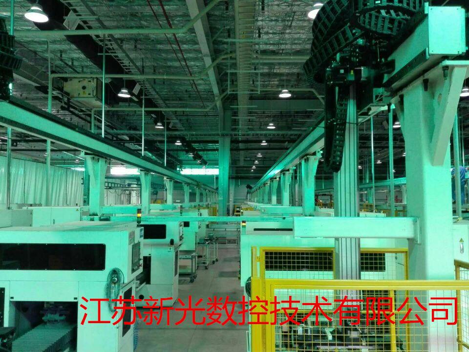 光伏硅晶生产线 长距离 高精度 桁架搬运机械手